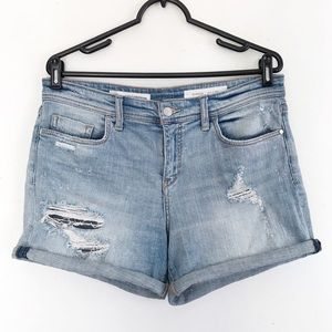 | Anthropologie | denim cuffed distressed shorts